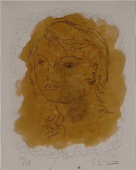 Tête de Jeune Fille  Head of a Girl Georges Braque